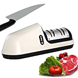Affilacoltelli elettrico, professionale da cucina, senza fili, ricaricabile, affilacoltelli elettrico per tutti i tipi di coltelli, cuochi, affilatura, accessori per la casa