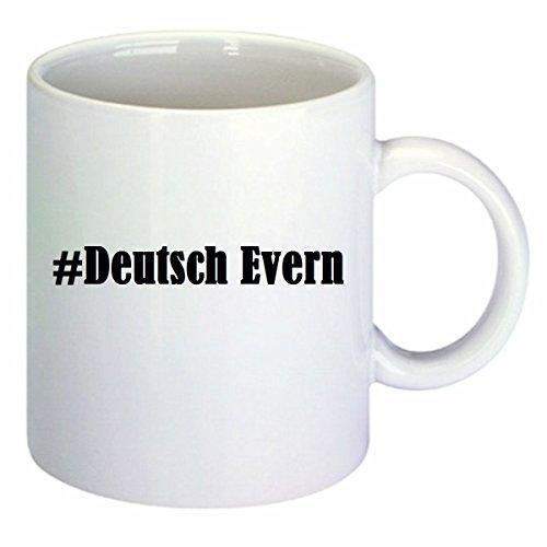 taza para café #Deutsch Evern Hashtag Raute Cerámica Altura 9.5 cm diámetro...