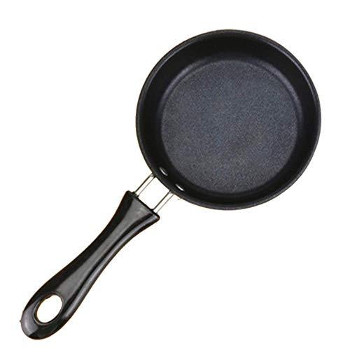 Planchas, mini antiadherente carne sartén Wok Wok apartamento tortilla pancake estufa de pellets fuente de horno,negro,12 cm