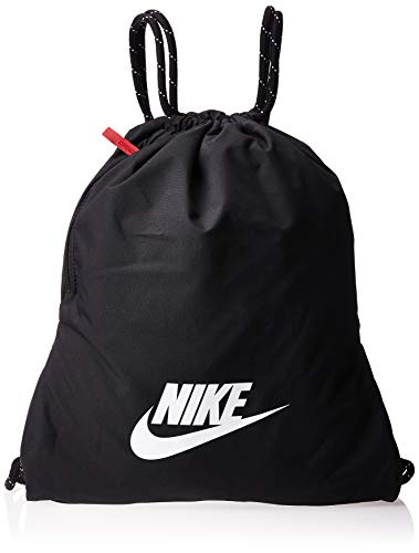 Nike Unisex-Adult Heritage 2.0 Carry-On Luggage, Black/Black/White, 43 cm