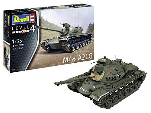 Revell REV-03287 M48 A2CG, Panzermodellbausatz, 1:35/25,1cm Toys, unlackiert, 1/35