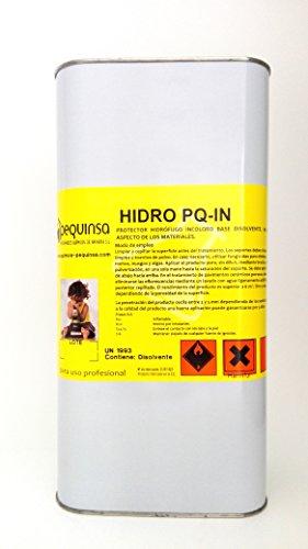 Hidrófugo incoloro base disolvente. Protector contra el agua de fachadas y materiales. Envase 5 litros.