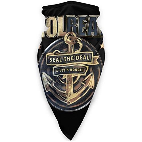 KKs-Shop Volbeat Face Shield Mode Winddichte Sport Multifunktionsbandana Kopfbedeckung Tube Outdoor Sturmhaube Schwarz HFB-499