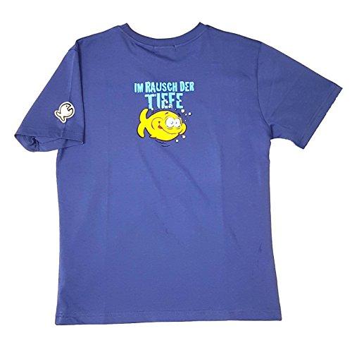 IQ-Company IQ T-shirt Motif losange de la profondeur Édition limitée XL bleu marine
