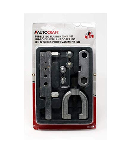 Autocraft - ISO Bubble Flaring Tool Kit | Flares Metric Brake Lines Tubing for Car and Truck Repairs | Chrome Plated | A Complete Bubble Flaring Tool Assortment