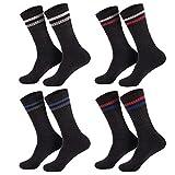 Sockenversandhandel 16 Paar Marken Sportsocken - Tennissocken Weiß mit Ringel 39-42/43-46 (39-42, Anthrazit)