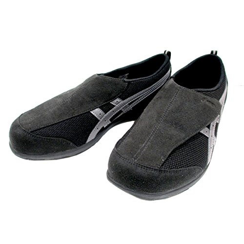[アシックス] 【履くほどに愛着が湧く、手放せない1足になりそう ライフウォーカー FLC101 シニア世代 健康志向 介護靴 介護シューズ リハビリサポートシューズ ブラック/チャコールグレー・ウォームグレー/チャコールグレー (26.5, ブラック/グ