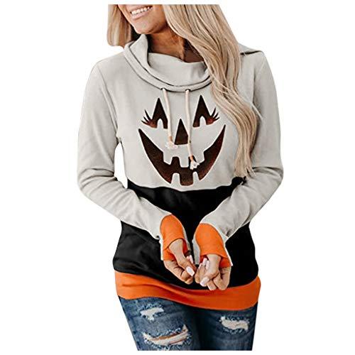 Ghazzi Sweatshirt for Women Halloween Horror 3D Print Long Sleeve...