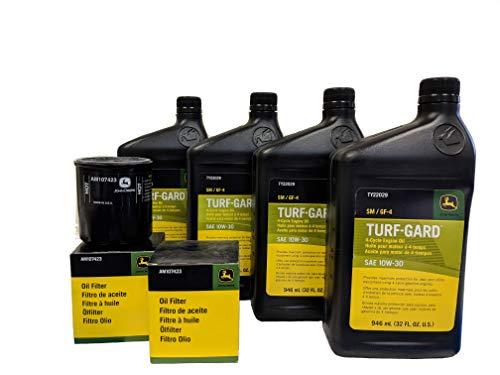 John Deere Original Equipment Double Oil Change Kit - (4) TY22029 + (2) AM107423