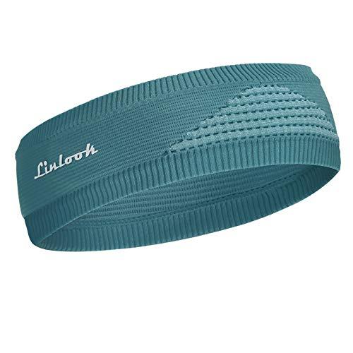 Sport Stirnband für Herren und Damen, Unisex Schweißband Stirn Mode Gestricktes Stirnbänder Feuchtigkeitstransport Anti Rutsch Dehnbares Haarband für...