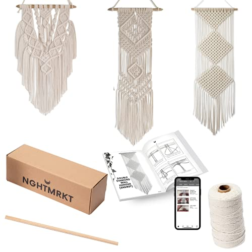Nghtmrkt Macrame Kit, DIY Macrame Kits for Adult Beginners, Macrame Wall Hanging...