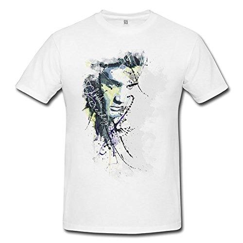 Elvis Presley (2) Premium Herren T-Shirt Motiv aus Paul Sinus Aquarell