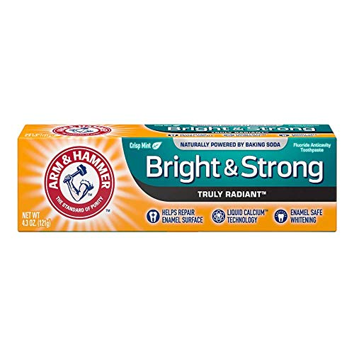 ARM & HAMMER Truly Radiant Bright & Strong Fluoride Anticavity Toothpaste Fresh Mint 4.3 oz (Packs of 2)