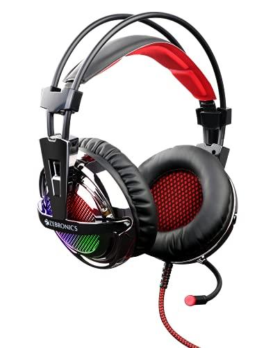 Zebronics Zeb-Orion USB 40mm Driver RGB LED Lights Gaming Headset with Mic (Metal Finish)