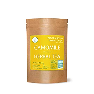 Premium Chamomile Herbal Tea by Two for Tea. Natural Chamomile Herbal Tea drinks. Natural Loose Leaf Chamomile Herbal Tea 113gr (4oz). Chamomile Herbal Tea leaves. USA Stock