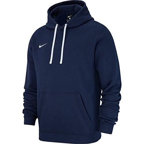 Nike M HOODIE PO FLC TM CLUB19 Sweat-shirt Homme Bleu/Obsidien/Blanc FR : S (Taille Fabricant : S)