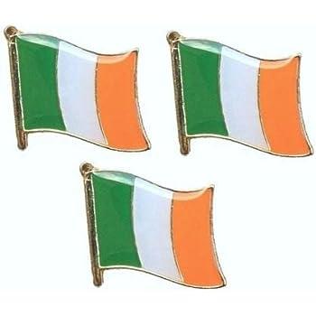 SMALL IRELAND TRI COLOURS QUALITY ENAMEL LAPEL BADGE