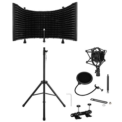 Buy Discount Meiyum Microphone Sound-Absorbing Hood, Recording Studio Microphone Isolation Shield wi...