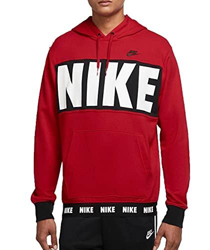 NIKE M NSW SPE+ FT PO Hoodie HBR Sweatshirt, University Red/Black/Black, XS Mens