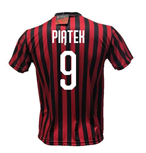 DND di D'Andolfo Ciro Maglia Calcio Piatek 9 Milan Replica Autorizzata 2019-2020 Taglie da Bambino e Adulto (M (Adulto))