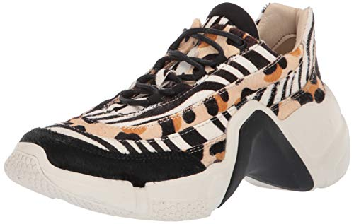 Skechers Neo Block-Mix-Up, Zapatillas Mujer, Negro (BKMT Black/Zebra/Cheetah Fur/White Bottom), 37 EU