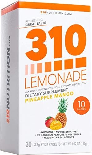 310 Lemonade Pineapple Mango - Slimming Lemonade Helps Restore PH Balance to Your Body Sugar-Free and Caffeine-Free Water Enhancer Beverage Includes 30 Individual Servings