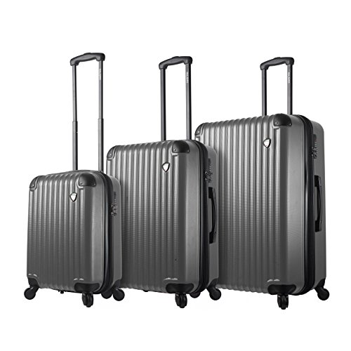 Best Prices! Mia Toro Italy Rotolo Hardside Spinner Luggage 3pc Set, Silver, One Size