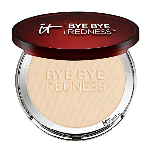 IT Cosmetics Bye Bye Redness Powder, Transforming Porcelain Beige - Tone Correcting, Full Coverage - With Anti-Aging Colloidal Oatmeal, Aloe, Cucumber, Chamomile, Collagen & Peptides
