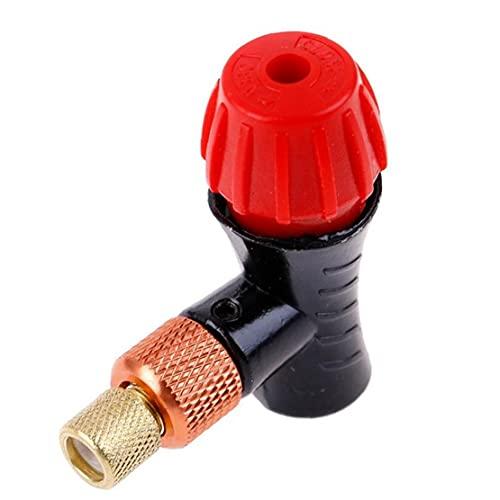 Budstfee Mini CO2 Bomba de Bicicleta Cabezal de aleación de aleación de Aluminio portátil Presta Schrader Cabeza de válvula