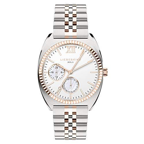 Liebeskind Berlin Damen Analog Quarz Uhr mit Edelstahl Armband LT-0263-MM