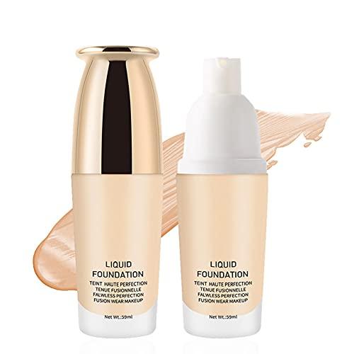 ARTIFUN Base de Maquillaje Mate Liqiud,Base de Maquillaje de Cobertura Total con Control de Aceite,Natural,Maquillaje Fresco para el Rostro,Corrector 59ml