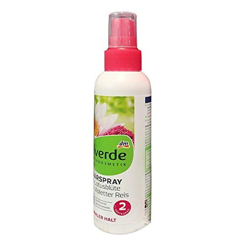 alverde NATURKOSMETIK Haarspray mit Lotusblüten-Extrakt und violettem Reis (150ml Flasche)