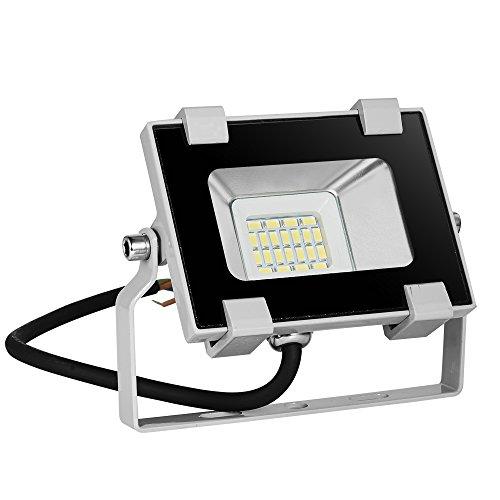 foco led exterior 10W,Blivrig LED Foco Exterior de alto brillo,Impermeable IP66 Proyector Foco LED, 6000K Blanco Frío Led Foco Exterio para Patio, Camino, Jardín(Blanco frio, 10W)