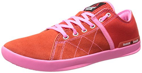 Reebok Women's Crossfit lite lo tr-w, China Red/Electro Pink/Steel, 6.5 M US