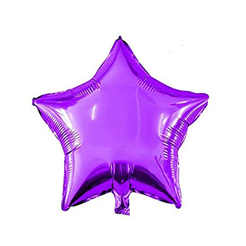18' Star Balloons Foil Balloons Mylar Balloons for Party Decorations Party Supplies, Purple, 10 Pieces