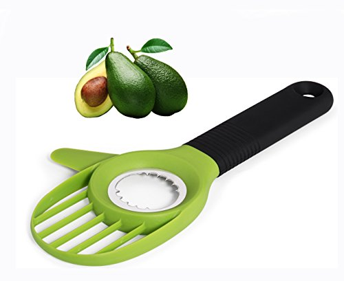 UNIQUEE 3-in-1 Avocado Tool Slicer Pitter Cutter Corer
