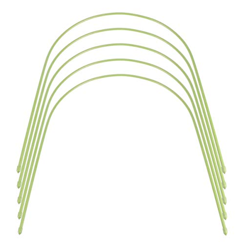 Cabilock 5 Stücke Folientunnel Pflanztunnel Gartentunnel Spannreifen Gewächshaus Reifen Hoops Hochbeet Abdeckung Tunnel Pflanzenstützen Bögen Stützreifen Kletterpflanzen Befestigung
