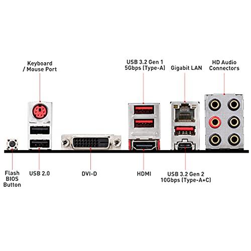 MSI B450 Tomahawk MAX II Scheda Madre Gaming AMD AM4 DDR4 m.2 USB 3.2 Gen 2 HDMI ATX