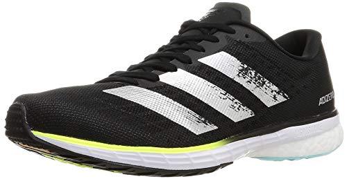 adidas Adizero Adios 5 m, Zapatillas para Correr Hombre, Core Black Silver Met Solar Yellow, 42 2/3 EU