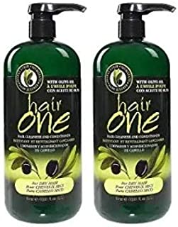 Hair One Olive Oil Cleansing Conditioner for Dry Hair (2 Pack)