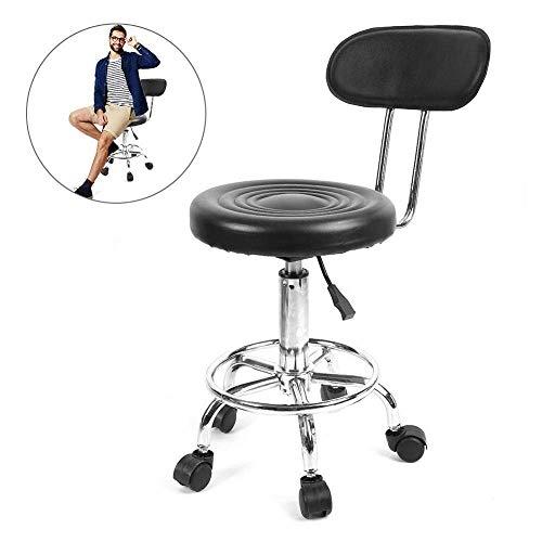 Taburete, Salon Taburete de trabajo ajustable, giratorio, altura con ruedas, silla de peluquería estilizadora, masaje, belleza, estudio