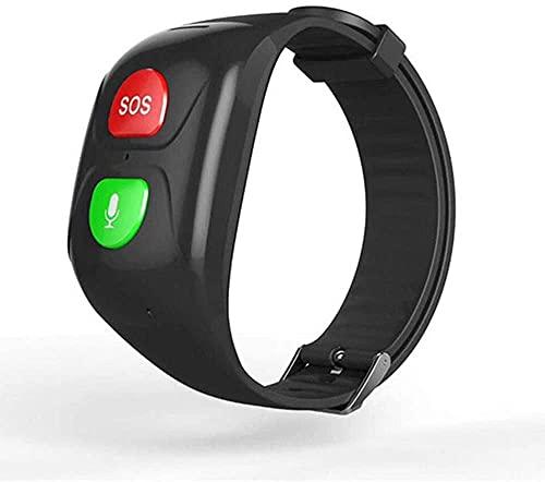 Pulsera Inteligente GPS - Reloj De Ubicación GPS para Personas Mayores - Pulsera De Emergencia con Chat De Voz, Llamada De Emergencia SOS, Ritmo Cardíaco Y Monitoreo De La Presión Arterial