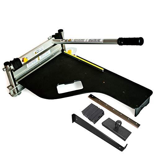 Schnittbreite 325mm | Der Bautec PROFI BT325 Laminatschneider/Parkettschneider inkl. 2 Klingen und 18teiligem Verlege Set