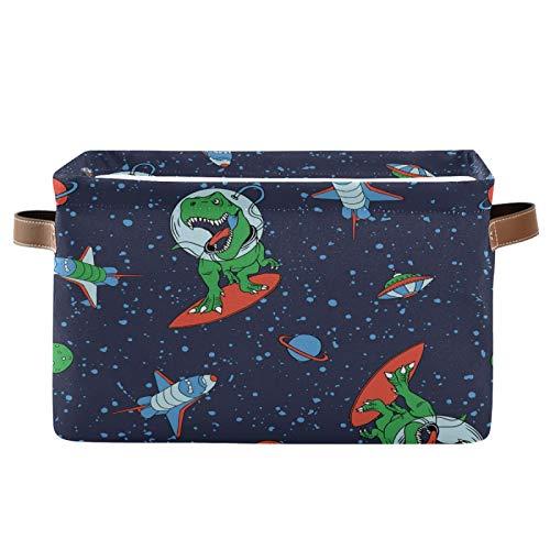 TropicalLife BGIFT Cesta de almacenamiento para astronauta de animales, dinosaurio, rectangular, con asa, grande, plegable,...
