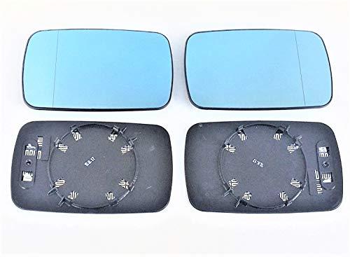 Spiegelglas rechts + Links Pro!Carpentis kompatibel mit 3er E46 nur für Limousine Touring oder Compact 1998 bis 03/2005 Set blau beheizbar asphärisch für Außenspiegel