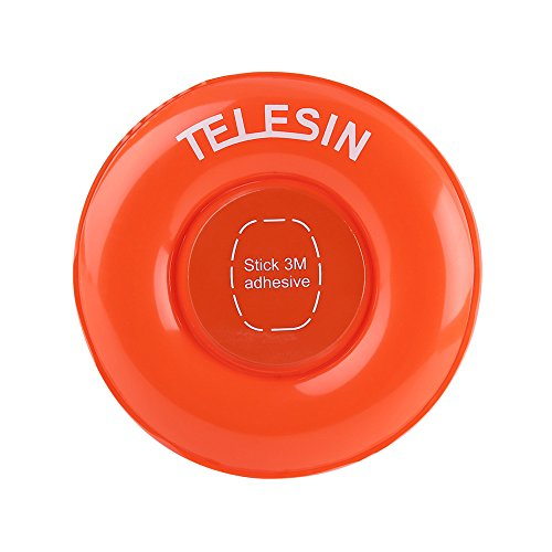 TELESIN Floating Disc, Gopro Camera Accessory Air Float Surfing Waterproof PVC Inflatable Mount for GoPro Fusion 360 GoPro Hero 6/5/4/3+/3 SJ4000/5000/6000 Xiaomi Yi 4K/4K+ and GoPro Fusion 360