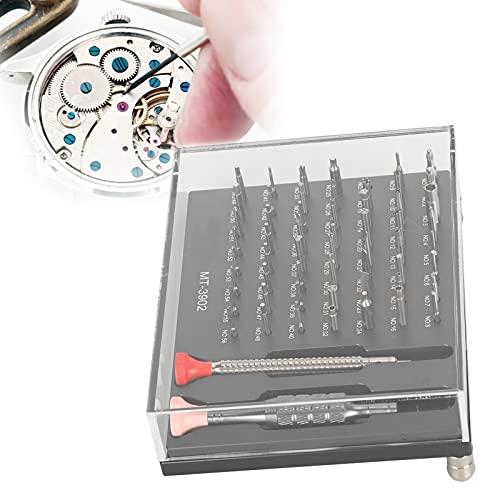 Juego de destornilladores de reloj, MT ‑ 3902 Juego de destornilladores de reloj Juego de destornilladores de reloj Juego de 56 piezas de destornillador Juego de herramientas de reparación de relojes