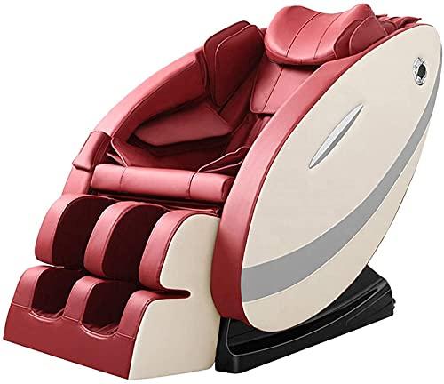 BDYALINGVN Silla de Masaje automática, Silla de Yoga tailandesa 3Dzero, Silla de Masaje de Cuerpo Completo con Masaje de Amasado, calefacción de Bluetooth, Rojo
