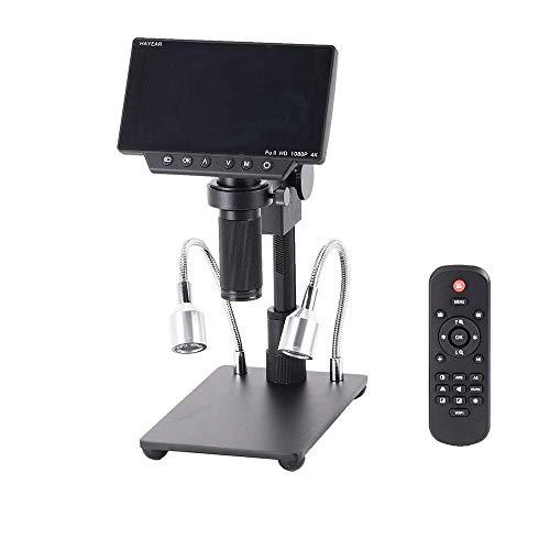 Gulakey HY-1080 34MP 4Kはんだ顕微鏡カメラ工業用メンテナンスデジタル5インチ画面のディスプレイ電子顕微鏡拡大鏡150X Cマウントレンズ