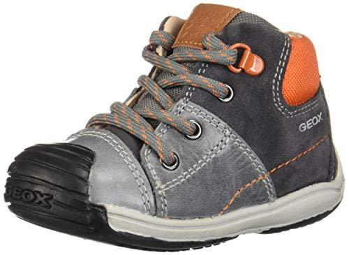 Geox B Toledo A, Zapatillas para Bebés, Gris (Dk Grey/Orange C0904), 24 EU